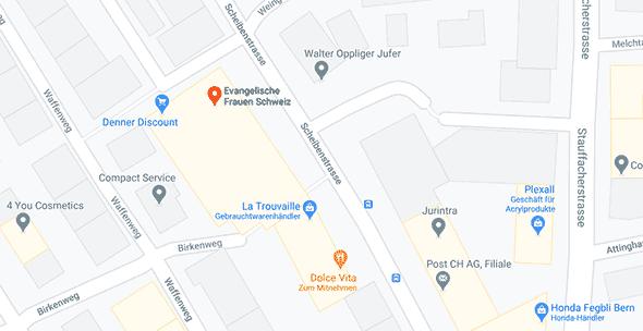 Kartenausschnitt Standort EFS