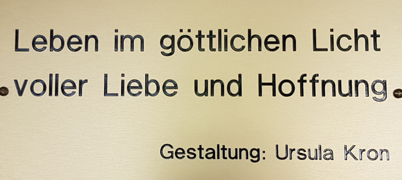 Beschriftung Wandbehang Zwinglihaus Grenchen