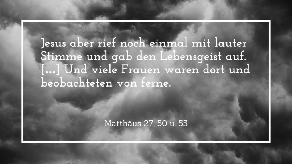 Karfreitag, Tod Jesu